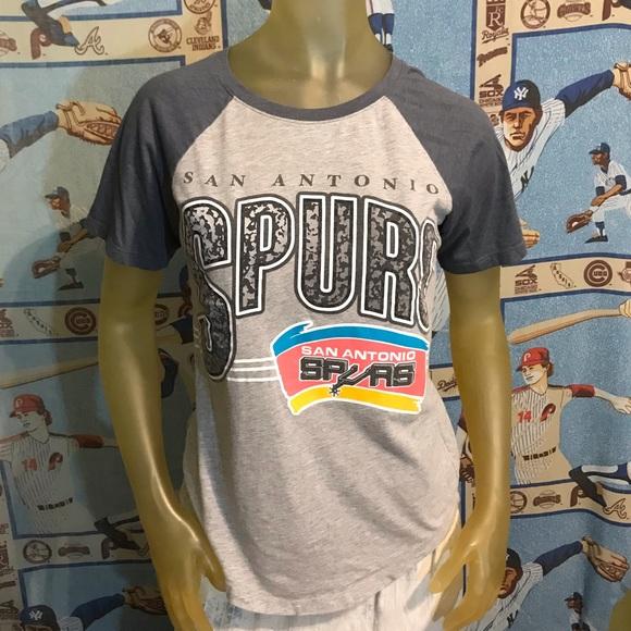 Mighty Fine Tops - NBA San Antonio Spurs Classic Soft Thin Tee S